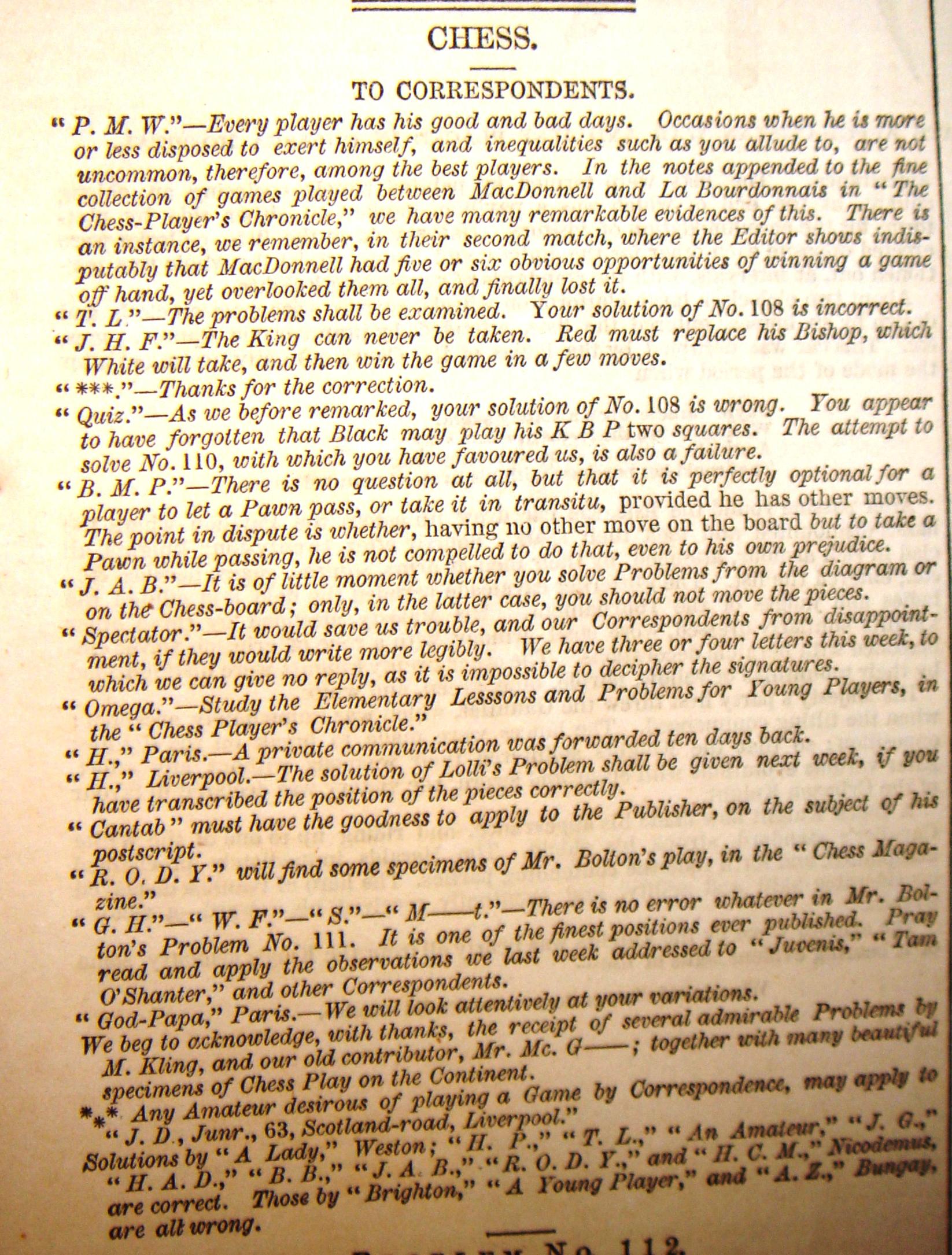 Index Of Stauntoncolumns1846